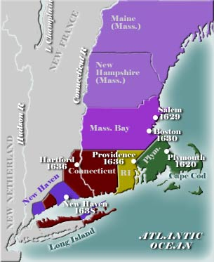 Early New England Map