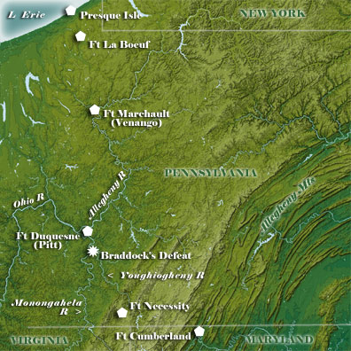 Western Pennsylvania Map