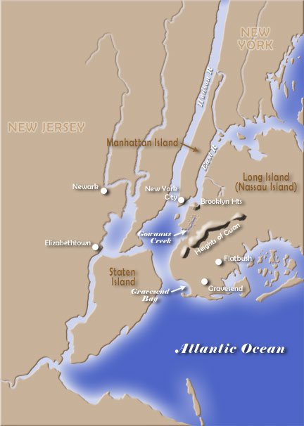 Battle of Long Island Map